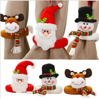 Christmas Santa Claus Snowman Toy Doll Xmas Tree Wrap Topper Decor Ornament Gift