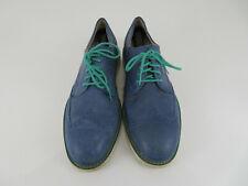 Cole Haan Air Franklin Ocean Blue Leather Lunar Wingtip Derby Casual Shoe Men 13