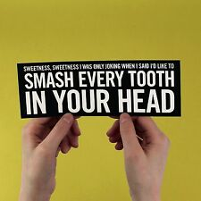 "The Smiths lyric Sticker! ""Bigmouth strikes again"" Morrissey, strangeways,"