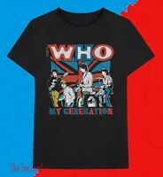 New The Who My Generation 1965 Black Mens Vintage T-Shirt