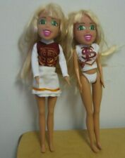 "Lot of 2 Best Pals Inc Barbie Doll Florida State Cheerleader FS 8"" inch dolls"