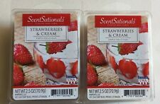 (2)Strawberries & Cream 2.5oz Fragrant Wax Melts 12 Scented Wax Cubes