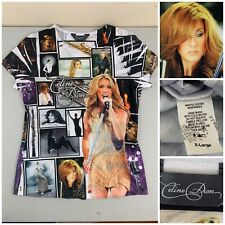 Celine Dion Women Photo Montage Shirt XL Made In USA - EXCELLENT CONDITION