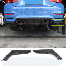 2x Carbon Splitter Flaps Wings Hinten Seite Spoiler für BMW M3 F80 M4 F82 F83