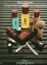 Publicité Advertising 1979  Parfum  YSL  pour homme de YVES SAINT LAURENT