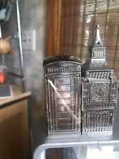 Godinger Salt & Pepper Shaker (Big Ben & Phone Booth) New!