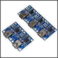 5x 5V Mini USB 1A Lithium Li-ion Akku Lademodul TP4056 TE106 DIY Chip Arduino