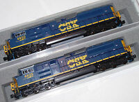 KATO 1768436 + 1768437 2 LOCO N SCALE SET SD70ACe CSX  #4835 + 4850 DARK FUTURE