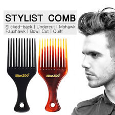 Men Anti-Static Hair Comb Insert Hair Pick Fork Comb Hairdressing Styling New