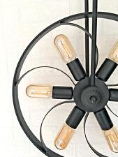 Black Wheel Propeller Ceiling LED Light Rustic Modern Vintage Industrial Pendant