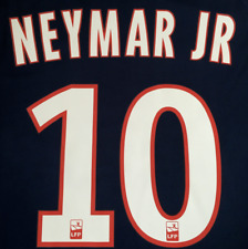 NEYMAR JR Football Shirt Print Name Set Nameset Number Transfer France Brazil