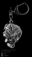 Saint-bernard, porte-clés couvert d'argent, de qualité supérieure Art Dog FR