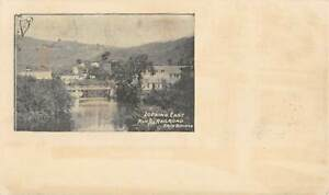 NORTHFIELD, VT ~ RIVER VIEW FROM THE RAILROAD BRIDGE, TOWN ADV ON BACK 1903-06