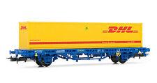 """Electrotren (H0 1:87) E1462 - Vagón MC1 de RENFE, tipo Lgs, con contenedor """"DHL"""