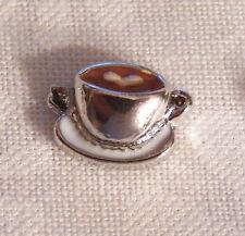 Espresso w/ Heart Floating Locket Charm - Silver-tone - NEW