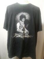 Jimi Hendrix Vintage 90s T-Shirt By Alstyle Black Mens Size 2XL U.S.A EUC