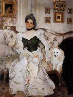 Oil painting Valentin Alexandrovich Serov Portrait of Princess Zinaida Yusupova