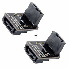 Xiwai 7Pin Motherboard SATA Male to Female Adapter Mainboard for Desktops SSD