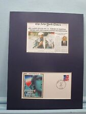 """Navy Seals Kill Osama Bin Laden & First Day Cover of  """"United We Stand"""" stamp"""