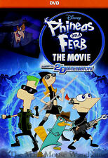 Disney Channel Phineas and Ferb The Movie Across The Second 2nd Dimension DVD