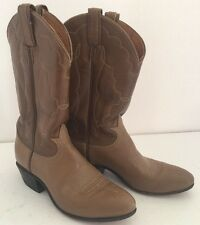 Tony Lama Two Tone Brown Leather Cowboy Cowgirl Western Boots Women's 7