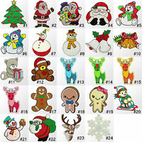 #309IR Christmas Xmas Craft Holiday Embroidered Sew Iron on Motif Patch Applique