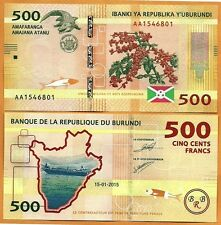 Burundi, 2015, Unc, 500 Francs / Amafaranga, Banknote, Paper Money Bill, P- 50