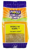 Now Foods Empty Vcaps Double '00' Vegetable Capsules - CHOOSE 250 or 750 caps