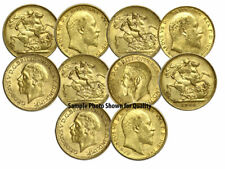 Lot of 10 Pre-1933 XF - AU BRITISH GOLD KING SOVEREIGNS world bullion coins