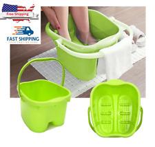 Japanese Foot Spa Bath Massager Basin Tub Water Bucket Roll Massage Soak/Scrub 9