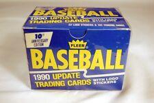1990 FLEER UPDATE SET, MINT IN BOX, 132 BASEBALL CARDS!