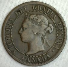 1894 Copper Canadian Large Cent Coin 1-Cent Canada VG #1
