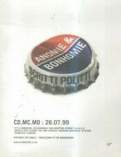 "(SFBK85) ADVERT 7X5"" SCRITTI POLITTI : ANOMIE & BONHOMIE"