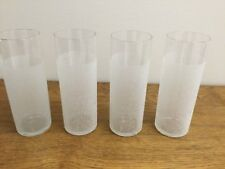 4 White Frosted Tumblers