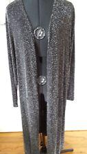 Frank Lyman Canadian DESIGNER Size 20 Aus Black/white Long Jacket/coat