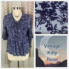 Knox Rose New Flower Tiny Pleat Corset Lace Bead String Blouse Boho Hippie Xs