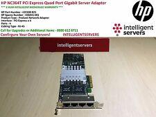 HP NC364T PCI Express Quad Port Gigabit Server Adapter Low Profile 435508-B21