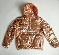 Bronzefarbene Daunenjacke von Ellesse, Glanznylon, Gr. 40, Hoodie