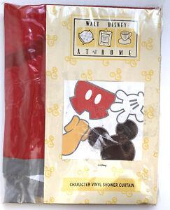 "Walt Disney At Home Mickey Mouse Vinyl Shower Curtain 72"" x 72"" New Vintage Vtg"