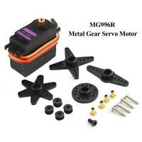 MG996R MG996 360° High Torque Metal Gear RC Servo Motor For Boat Helicopter Car