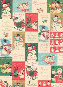 Geschenkpapier Bogen Weihnachten Schneemann / G3
