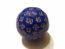 Blue 100 Sided Dice by BrycesDice RPG Magic D&D with White Numbers Unique Rare