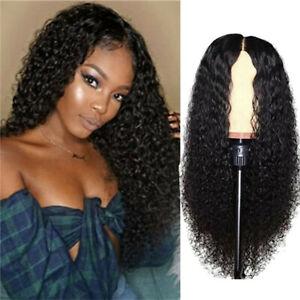 Human Hair Curly Front Wig Women Peruvian Human Long Curly Wavy Hair Wigs