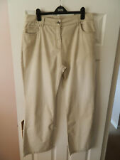 Ladies Beige Casual Trousers Size 18R Per Una by M&S