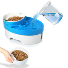 Dog Water Fountain Automatic Pet Cat Food Bowl Feeder Tray Scoop Utensil Filter