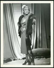 CONSTANCE BENNETT w FUR SHAWL Original Vintage 1930s PORTRAIT Photo