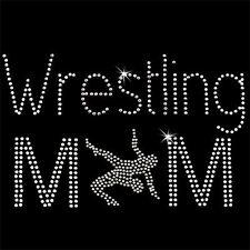 Rhinestone Transfer - Hot Fix Motif -  Wrestling Mom 1
