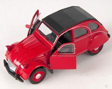 BLITZ VERSAND Citroen 2 CV geschl. rot / red Ente Welly Modell Auto NEU & OVP