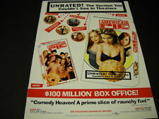 AMERICAN PIE The Version You Couldn't Seen In Theatres MOVIE Promo Poster Ad