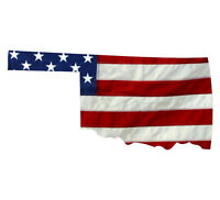 State of Florida Realistic American Flag Window Decal Various Sizes